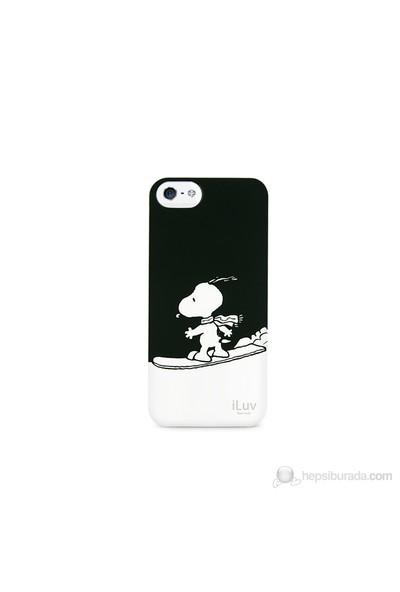 iLuv Apple iPhone 5 Siyah ICA7H383BLK Snoopy Sports Series Hardshell Kılıf
