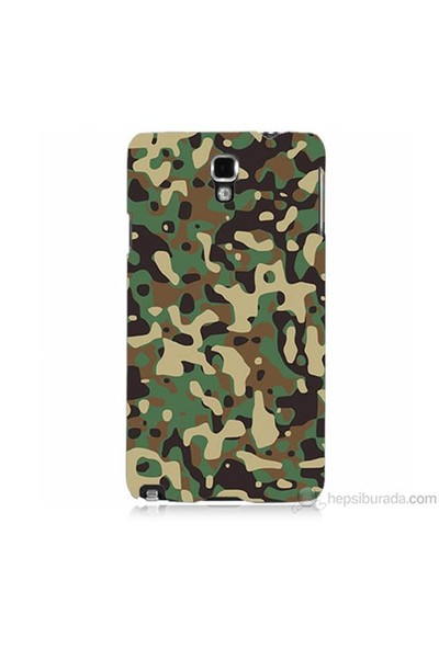 Teknomeg Samsung Galaxy Note 3 Neo Kapak Kılıf Askeri Kamuflaj Baskılı Silikon