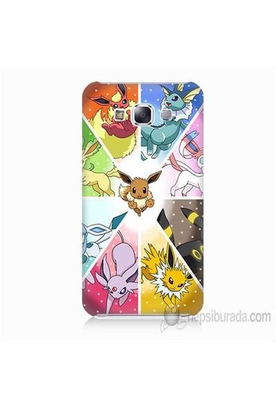 Teknomeg Samsung Galaxy E5 Kapak Kılıf Pokemon Baskılı Silikon