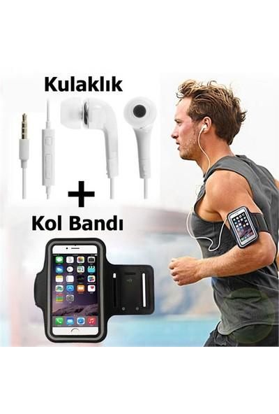 Exclusive Phone Case Lg X Screen Kol Bandı Spor Ve Koşu + Kulaklık