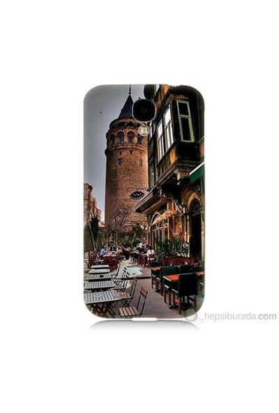 Teknomeg Samsung Galaxy S4 Kapak Kılıf Galata Kulesi Baskılı Silikon