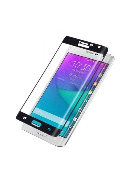 Dafoni Samsung Galaxy Note Edge Curve Tempered Glass Premium Siyah Cam Ekran Koruyucu