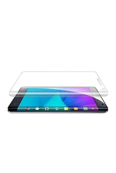 Dafoni Samsung Galaxy Note Edge Curve Tempered Glass Premium Şeffaf Cam Ekran Koruyucu