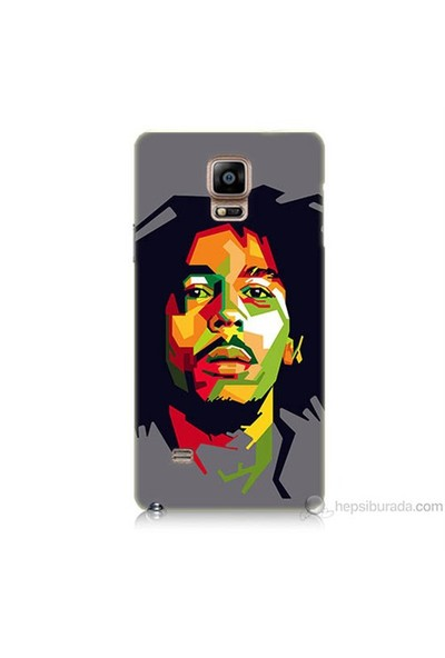 Teknomeg Samsung Galaxy Note 4 Kapak Kılıf Bob Marley Baskılı Silikon