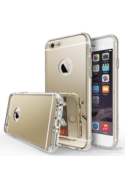 Ringke Mirror Fusion iPhone 6s/ 6 Aynalı Kılıf Royal Gold - Extra Darbe Emici