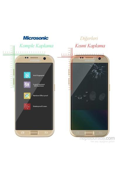 Microsonic Samsung Galaxy S7 3D Temperli Cam Kenarlar Dahil Komple Ekran Koruyucu Film Beyaz