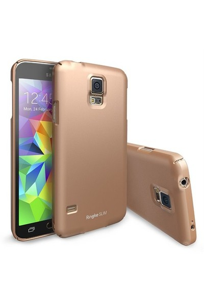 Ringke Samsung Galaxy S5 Altın Ringke Slim Kılıf