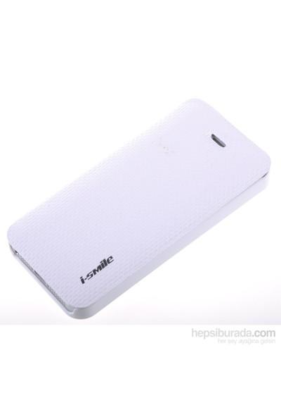 Qapak Smle Kumaş Kılıf iPhone 5/5s Beyaz uz244434003145
