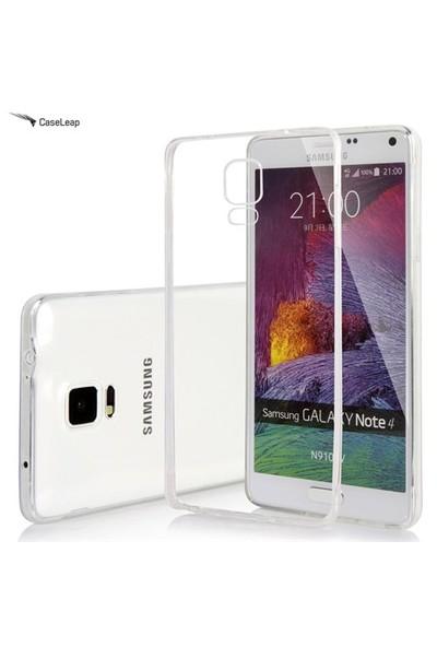 Case Leap Samsung Galaxy Note 4 İnce Silikon Kılıf Şeffaf