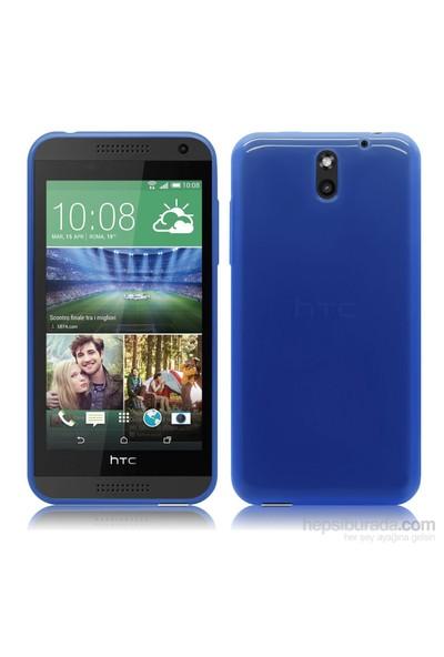 Case 4U HTC Desire 610 Soft Silikon Kılıf Mavi*