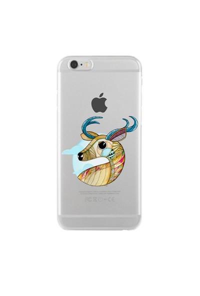 Remeto Samsung Galaxy Note 3 Portre Geyik Transparan Silikon Resimli Kılıf