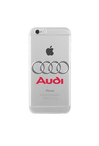 Remeto Samsung Galaxy Note 3 Audi Logo Transparan Silikon Resimli Kılıf