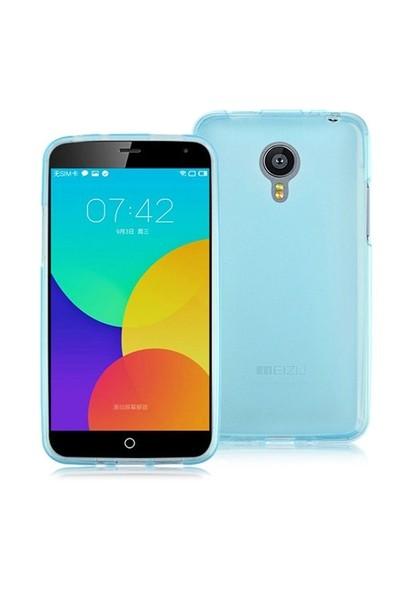 Case 4U Meizu MX4 Pro Ultra İnce Silikon Kılıf Mavi*