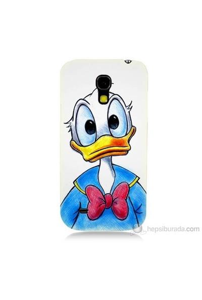 Teknomeg Samsung Galaxy S4 Mini Kapak Kılıf Donald Duck Baskılı Silikon