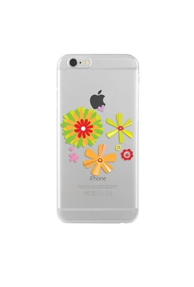Remeto Samsung Galaxy E5 Transparan Silikon Resimli Çiçek