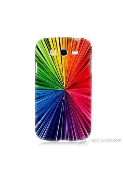 Teknomeg Samsung Galaxy Grand Neo Kapak Kılıf Renkler Baskılı Silikon