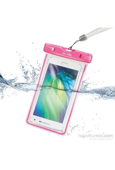 Celly Su Geçirmez Akıllı Telefon Çantası Pembe - Wpcbagxl02