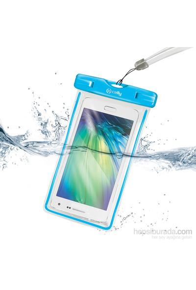 Celly Su Geçirmez Akıllı Telefon Çantası Mavi - Wpcbagxl03