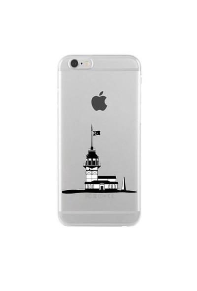 Remeto iPhone 6/6S Şeffaf Transparan Silikon Resimli Kız Kulesi