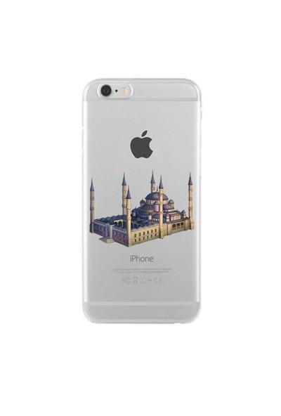 Remeto iPhone 5/5S Şeffaf Transparan Silikon Resimli Sultan Ahmet Cami