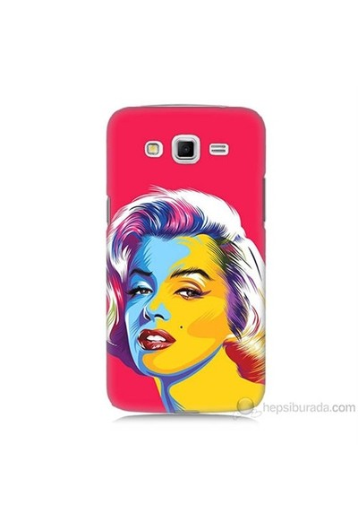 Teknomeg Samsung Galaxy Grand 2 Kapak Kılıf Pop-Art Resim Baskılı Silikon