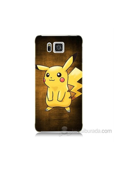 Teknomeg Samsung Galaxy Alpha G850 Kapak Kılıf Pokemon Pikachu Baskılı Silikon