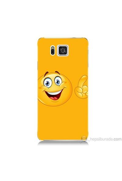 Teknomeg Samsung Galaxy Alpha Kapak Kılıf Emoji Baskılı Silikon