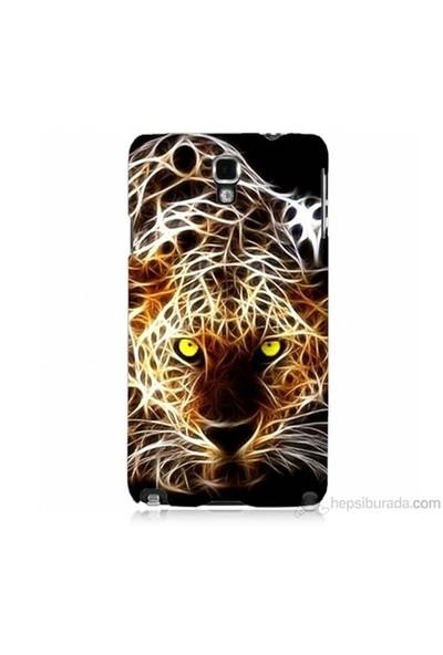Teknomeg Samsung Galaxy Note 3 Neo Kapak Kılıf Yanan Aslan Baskılı Silikon