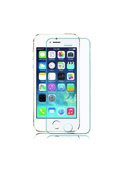 Teleplus İphone 5S Plastik Ve Cam Ekran Koruyucu Karışımı Cam Ekran Koruyucu
