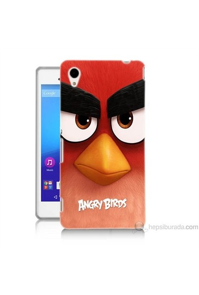 Teknomeg Sony Xperia M4 Aqua Kapak Kılıf Angry Birds Baskılı Silikon