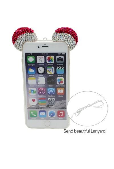 Markaawm İphone 6 6S Kılıf Mickey Kulaklı Taşlı