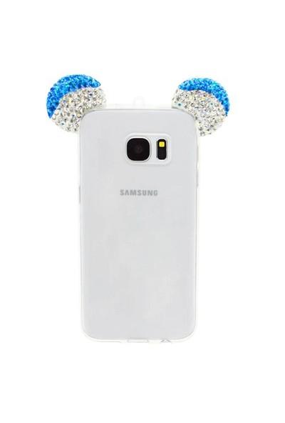 Markaawm Samsung Galaxy Note 5 Kılıf Mickey Kulaklı Taşlı