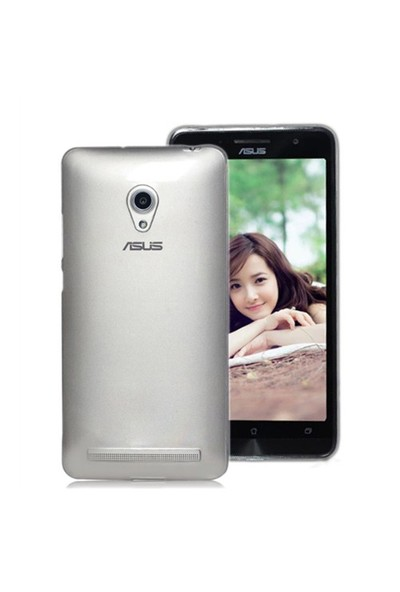 Microsonic Transparent Soft Asus Zenfone 6 Kılıf Beyaz