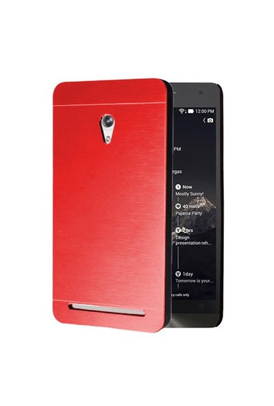 Microsonic Asus Zenfone 6 Kılıf Hybrid Metal Kırmızı