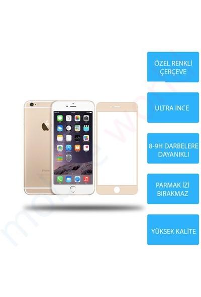 Mobile World iPhone 6 PLUS Renkli Cam Ekran Koruyucu Gold - 2570