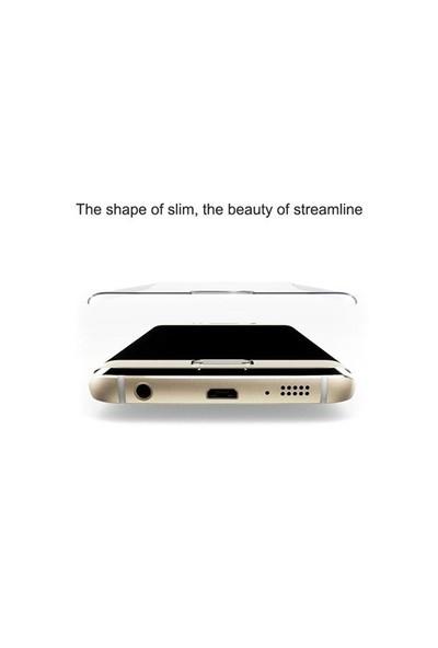 Dafoni Samsung Galaxy S6 Edge Plus Curve Tempered Glass Premium Gold Cam Ekran Koruyucu