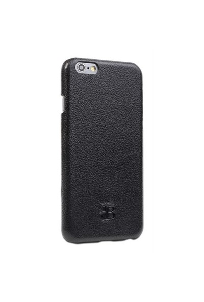 Burkley Apple İphone 6 Plus / 6S Plus Snap On Deri Ructic Black Rubber Kılıf