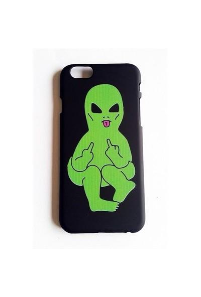 Köstebek Alien Middle Finger - Parmak Çeken Alien İphone 6 Telefon Kılıfı