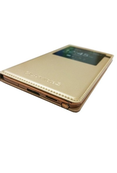 Kılıfshop Samsung Galaxy Note 3 S View Cover Gold