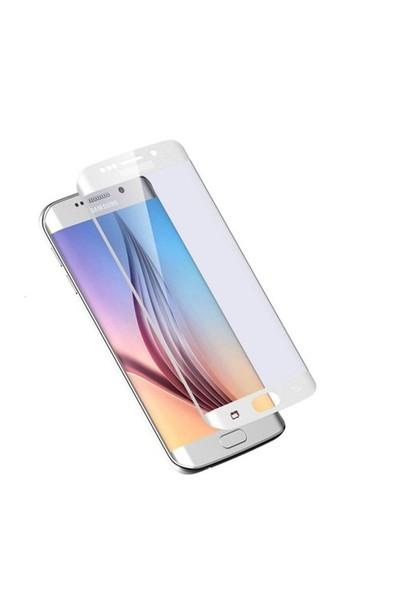 Ksp Samsung Galaxy S6 Edge Kavisli Cam Ekran Koruyucu - Beyaz