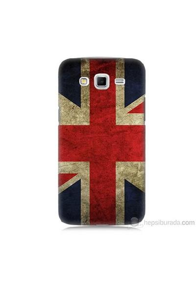 Teknomeg Samsung Galaxy Grand 2 Kapak Kılıf İngiltere Bayrağı Baskılı Silikon