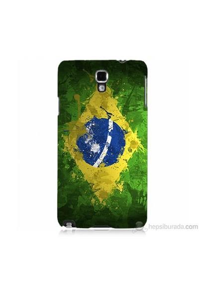 Teknomeg Samsung Galaxy Note 3 Neo Kapak Kılıf Birezilya Bayrak Baskılı Silikon