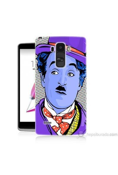 Teknomeg Lg G4 Stylus Kapak Kılıf Charlie Chaplin Baskılı Silikon