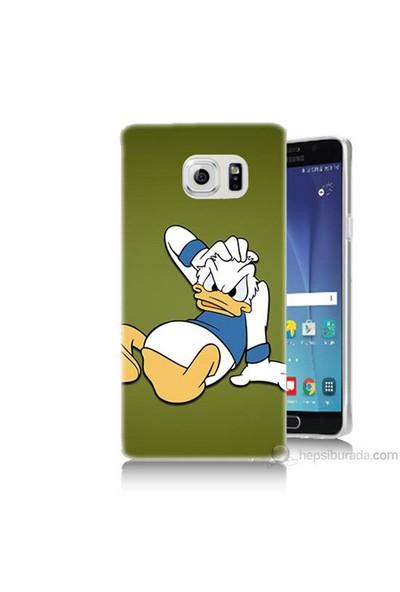 Teknomeg Samsung Galaxy Note 5 Kapak Kılıf Donald Dock Baskılı Silikon