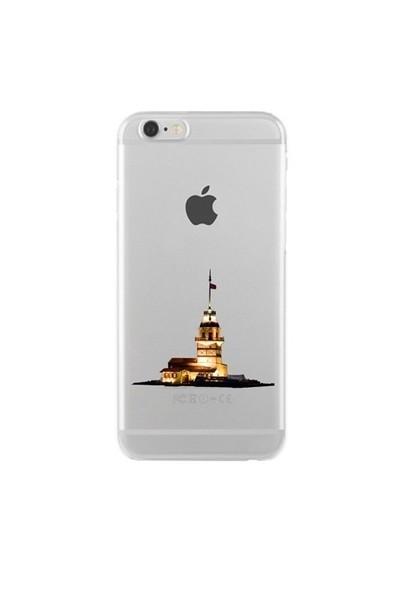 Remeto Samsung Galaxy Note 4 Transparan Silikon Resimli Kız Kulesi