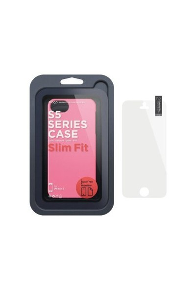 Elago Apple iPhone 5 S5 Slim Fit 2 Series Pembe (Ekran Koruyucu Hediye)