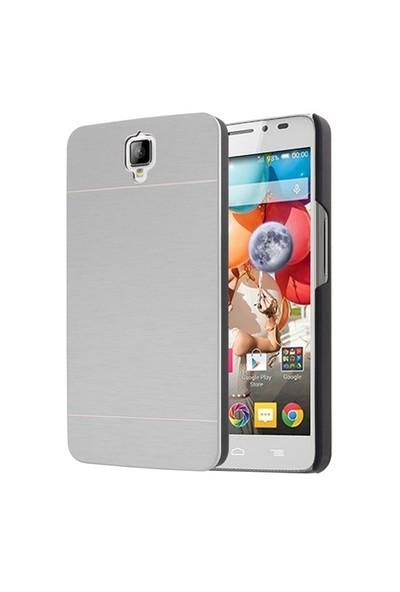 Microsonic General Mobile Discovery 2 Kılıf Hybrid Metal Gümüş