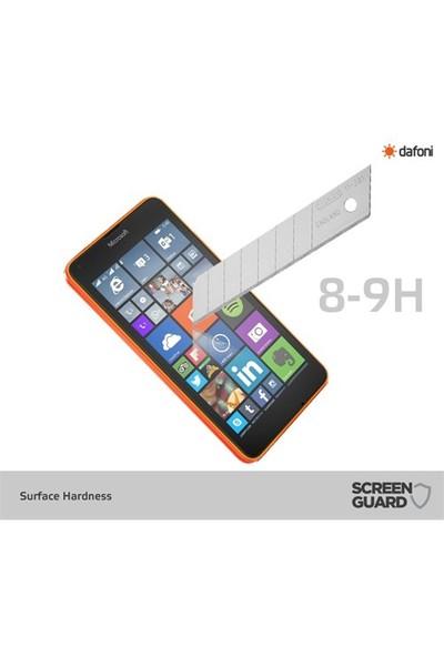 Dafoni Microsoft Lumia 640 Xl Tempered Glass Premium Cam Ekran Koruyucu
