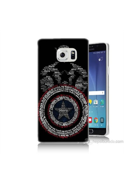 Teknomeg Samsung Galaxy Note 5 Kapak Kılıf Kaptan Amerika Baskılı Silikon