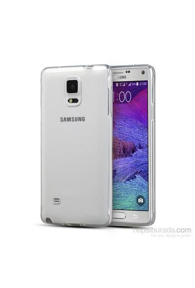 Mycolors Samsung Galaxy Note 4 Şeffaf İnce Silikon Arka Kapak - MYC-0059